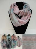 36 Units of Extra-Wide Light Weight Infinity Scarf Color Streak - Womens Fashion Scarves