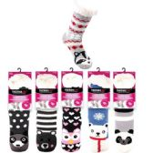 36 Units of Plush-Lined Sherpa Socks - Womens Sherpa Socks