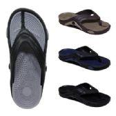 48 Units of Men's Massage Flip Flop - Men's Flip Flops and Sandals