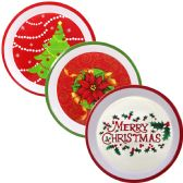 "48 Units of PARTY SOLUTIONS MELAMINE CHRISTMAS TRAY 12"" ASTD DESIGNS - Christmas Novelties"