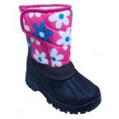 18 Units of Girls' Floral and Black Winter Boot - Girls Boots