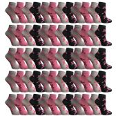 60 Pairs Womens Breast Cancer Awareness Socks, Pink Ribbon Value Pack (Ankle Socks, 60 Pairs (Ankle Socks) - Breast Cancer Awareness Socks