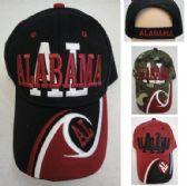 "36 Units of ALABAMA Hat ""AL"" [AL/Wave on Bill] - Baseball Caps & Snap Backs"
