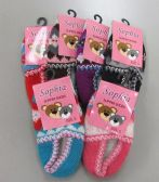 60 Units of Girls Knit Slippers Booties - Girls Slippers