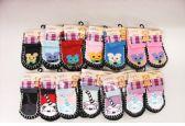 60 Units of Girls Printed Slipper Socks - Girls Slippers