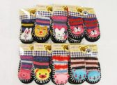 126 Units of Girls Printed Slipper Socks With Rubber Sole - Girls Slippers