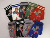 240 Units of Boys Printed Glove - Kids Winter Gloves