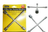 72 Units of 4-Way Hex Socket Wrench Sizes: 8, 10, 12, 14mm - Wrenches