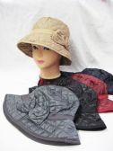 36 Units of LADIES WINTER BUCKET HAT WITH BOW - Bucket Hats