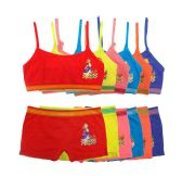 144 Units of Girls Seamless Bra & Boxer Set - Girls Underwear and Pajamas
