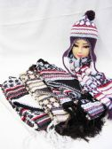 36 Units of LADIES FASHION WINTER BEANIE AND SCARF SET - Winter Sets Scarves , Hats & Gloves