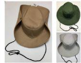 48 Units of Safari hats, assorted colors Unisex - Bucket Hats