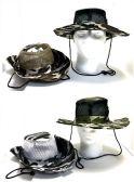 48 Units of Camo Safari Hats with Mesh Top - Bucket Hats