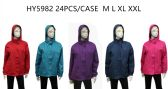 24 Units of Ladies Wind Breaker Jacket - (Assorted Colors) - Men's Winter Jackets