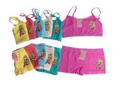 144 Units of Girls Seamless Bra & Boxer Set - Girls Underwear and Pajamas