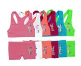 144 Units of Girl's Seamless Racerback Bra + Boxer Set - Girls Underwear and Pajamas
