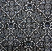 48 Units of Bandana-Blue/Black /White Print w Skulls - Bandanas