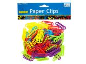 60 Units of Jumbo Colored Plastic Paper Clips - Paper clips