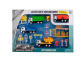 6 Units of Friction Powered City Work Truck Play Set - Cars, Planes, Trains & Bikes