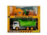 6 Units of Friction Powered Dump Truck & Construction Team Set - Cars, Planes, Trains & Bikes