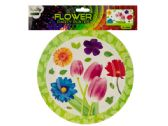 """72 Units of 9"""" Floral Party Paper Plates - Party Paper Goods"""
