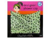 60 Units of Cheetah Print Designer Shower Cap - Shower Caps