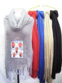 24 Units of Womens Fashion Knitted Scarf In Assorted Colors - Womens Fashion Scarves