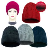 36 Units of Unisex Knit Hat Assorted Colors - Winter Beanie Hats