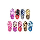 96 Units of Womens Assorted Color Snowflake Slippers - Women's Slippers