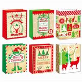 96 Units of Gift Bag Xmas Two Pack Medium - Gift Bags Christmas