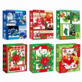 96 Units of Gift Bag Xmas Two Pack In Medium - Gift Bags Christmas