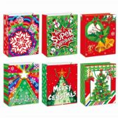 96 Units of Gift Bag Xmas Size Xlarge - Gift Bags Christmas