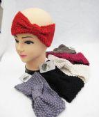 36 Units of Knitted Bow Ear Warmer - Ear Warmers