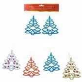 96 Units of Xmas Ornament Tree Two Pack - Christmas Ornament
