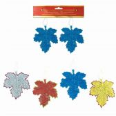 96 Units of Xmas Ornament Leave Two Pack - Christmas Ornament