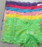 216 Units of Ladies Lace Boxer with Bowtie - Womens Panties & Underwear