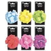 96 Units of Five Inch Gift Bow Dot - Bows & Ribbons