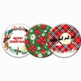 96 Units of Paper Plate Twenty Count Nine Inch - Christmas Novelties