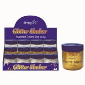 96 Units of Three Color Glitter Shake Two Ounce Silver Gold - Craft Glue & Glitter