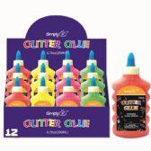 96 Units of Neon Color Glitter Glue - Craft Glue & Glitter