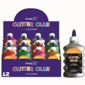 96 Units of Glitter Glue Classic Clear - Craft Glue & Glitter