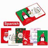 120 Units of Twelve Pack Xmas Cards Spanish - Christmas Cards