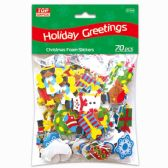 96 Units of Xmas Foam Stickers - Christmas Decorations