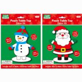 144 Units of Xmas Table Top Decor Kit - Christmas Decorations