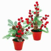 96 Units of Xmas Decoration Flower - Christmas Decorations