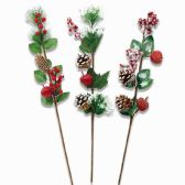96 Units of Xmas Decoration Flowers - Christmas Decorations