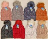 24 Units of Chenille Hat With Lining - Fashion Winter Hats
