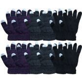 12 Pairs Of excell Touch Screen Winter Gloves, Texting Gloves (12 pack C) - Store