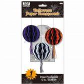 96 Units of Twelve Inch Halloween Honeycomb Lantern - Halloween & Thanksgiving
