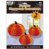 72 Units of Three Piece Honeycomb Centerpiece - Halloween & Thanksgiving
